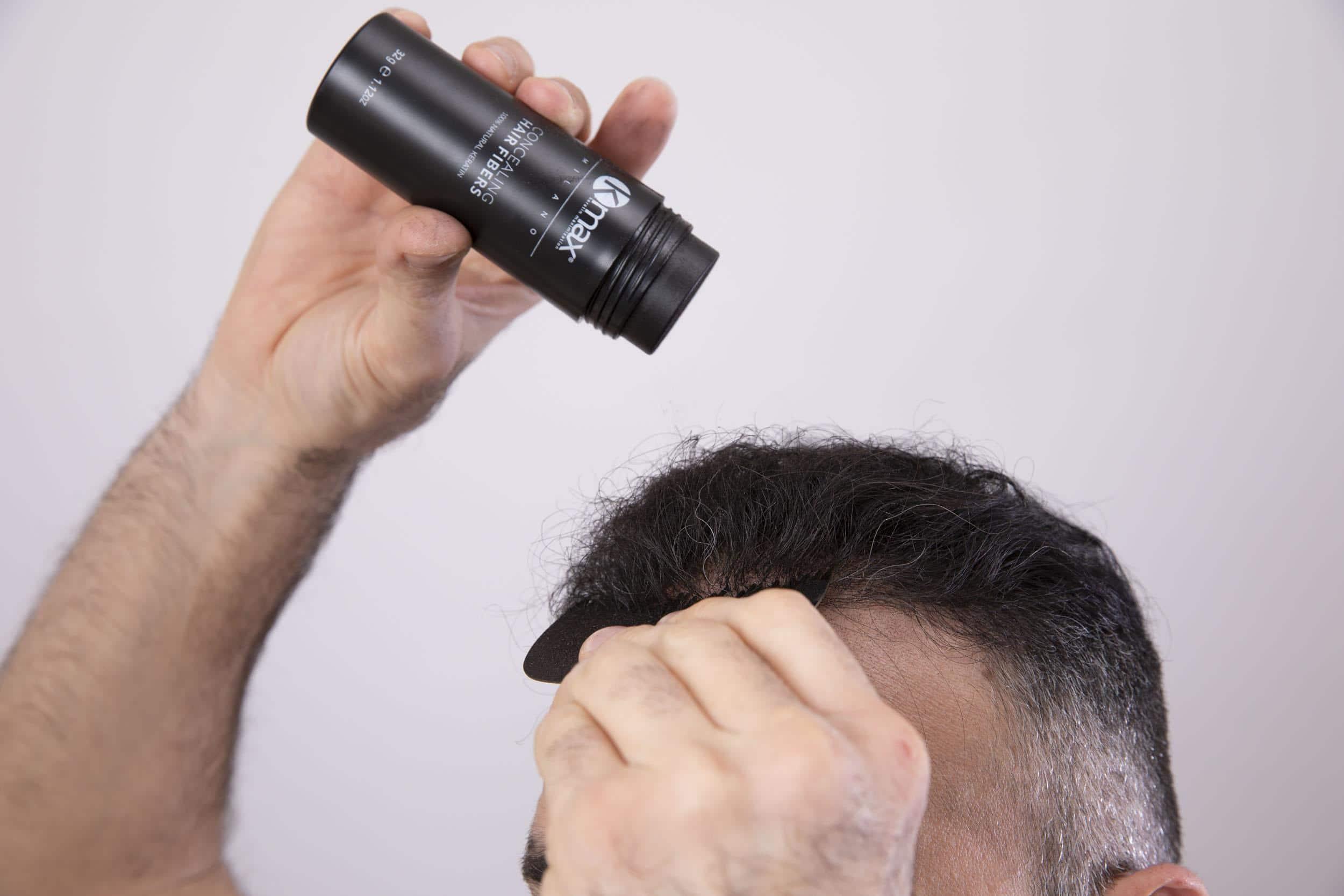 Kmax Styling Gel y Kmax Hair Fibers
